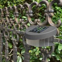 купить Outdoor Solar LED Lamp Waterproof Pathway Stairs Fence Garden Lights Energy Saving Wall Lamps For Garden Decoration White Light дешево