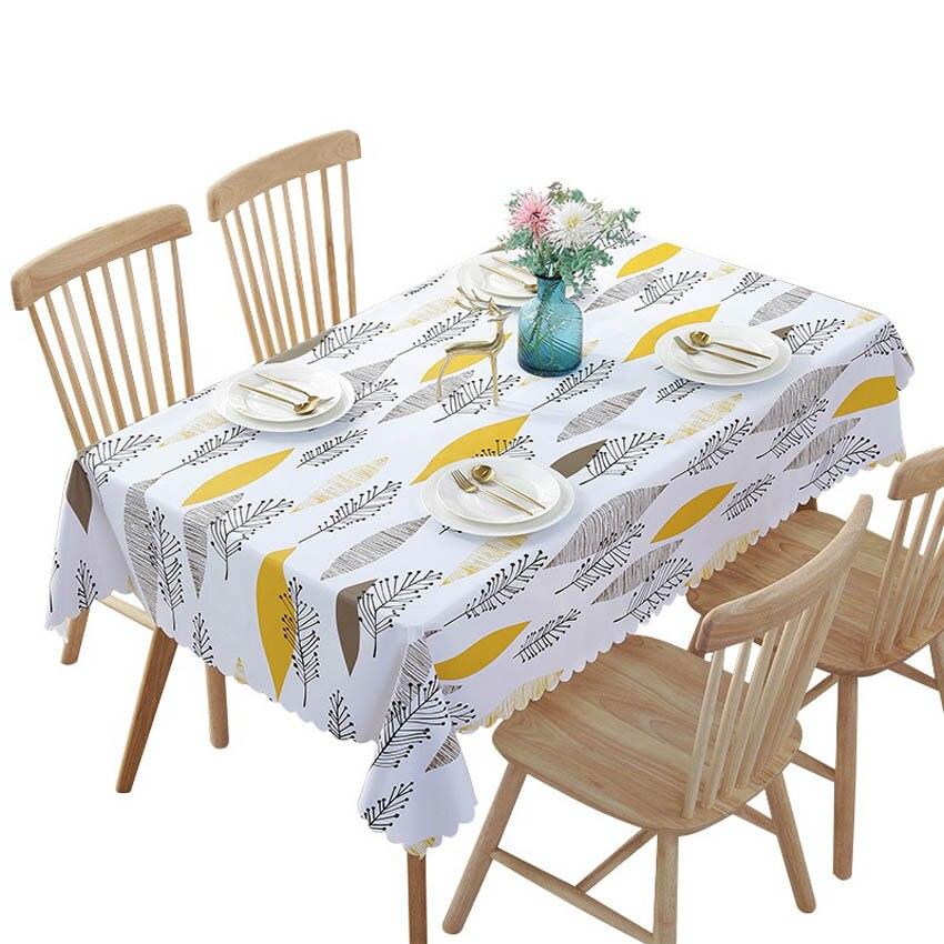 PVC Waterproof Tablecloths Plant Pastoral Table Cloth Background Cloth Plastic Table Cloth Home Decor Manteles Toalha De Mesa