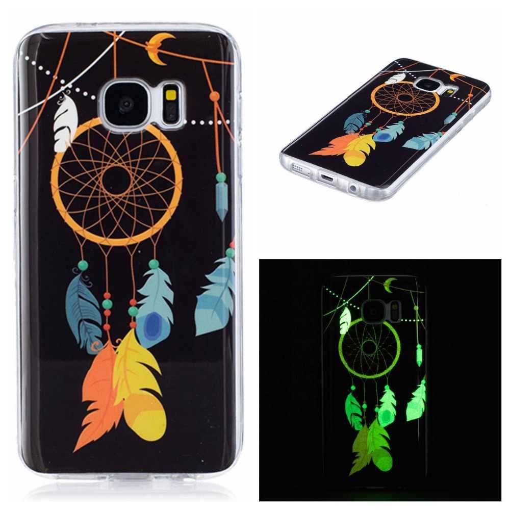 高級ケース S5 S6 S7 エッジの 5 ネオ 6 7 デュオ 3D 夜光カバーシリコン TPU 電話ケースハウジング