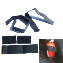 5 Pcs/set Car Trunk Magic Belt Vehicle Stowing Tidying Strap Car Styling Bandage Fire Extinguisher Hook Loop Sticker Fixing Tape(China)