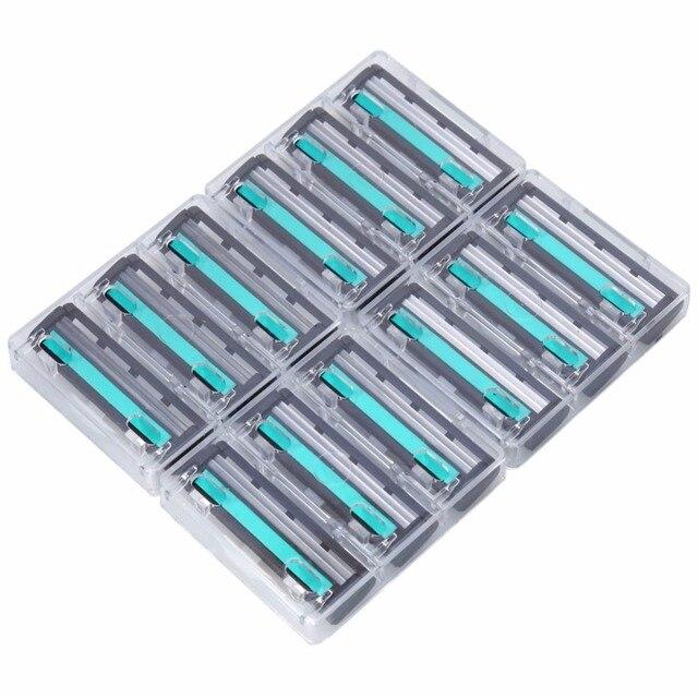 Vendite calde del commercio all'ingrosso 12 pz/kit degli uomini di Alta Qualità Lame di Rasoio Da Barba Lame di Rasoio Lama Viso Cura Per gli uomini Rasoio Kit Formato Normale