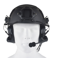 SEIGNEER Airsoft Aviation Headset Headphone Comtac II Headset For FAST Helmet And Peltor Helmet Rail Adapter Set