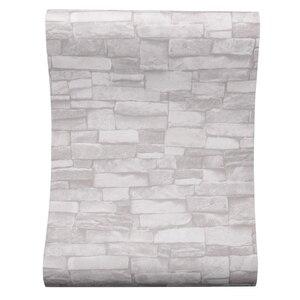 Image 2 - Creme branco do vintage pedra tijolo papel de parede para paredes rolo falso 3d papéis de parede para sala estar restaurante não tecido