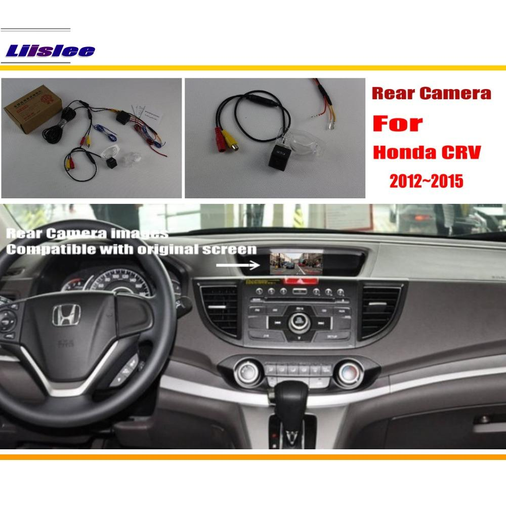 Liislee Car Rear View 후방 카메라 세트 혼다 CRV CR-V 2012 ~ 2015 / Night Vision / RCA & Original Screen Compatible