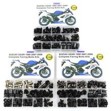 Для Suzuki GSXR 1000 GSX-R1000 2007 2008 Аксессуары для мотоциклов завершена тела Полный Обтекатель болты комплекты скоб винты Сталь 1 компл