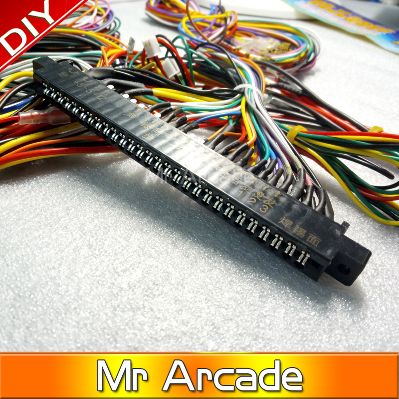 US $12 0 |Jamma Harness with 5, 6 action button wires/Jamma 28 pin with 5,6  buttons wires for arcade game machine/cabinet accessories-in Coin Operated