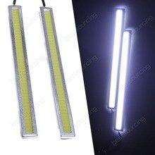 2 unids 17.3 cm Impermeable Delgado Blanco LED de Circulación Diurna DRL Luz de Conducción Antiniebla (CA152)