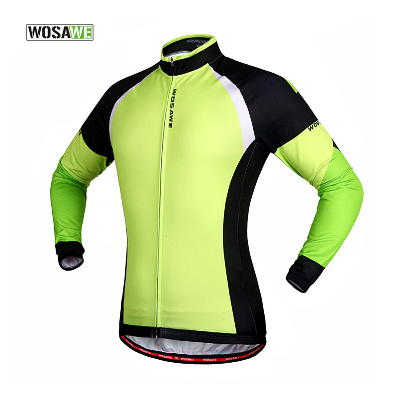 WOSAWE Cycling Jersey Mtb Downhill Mountain Bike Bicycle Cycling Clothing Winter Autumn Long Sleeve Riding Outdoor Sportswear