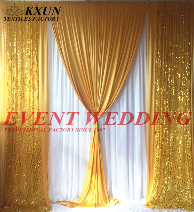 New Design Sequin Ice Silk Wedding Backdrop Curtain Stage Background For Event Decoration