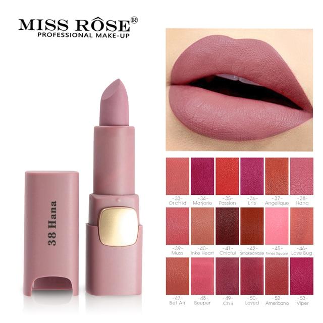 Мисс Роуз Новый увлажняющий 18 цветов матовая помада сексуальные красные губы телесная помада матовая Косметика Губная Помада Макияж