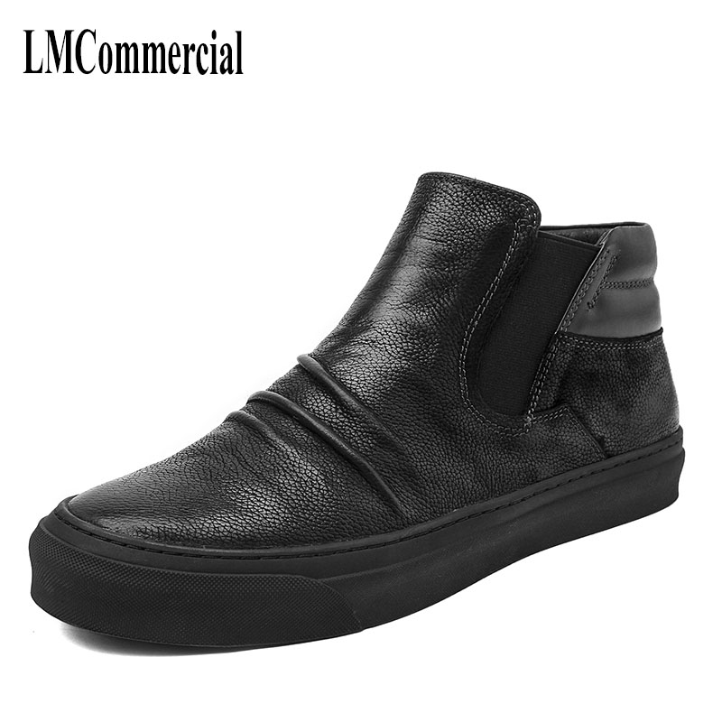 new autumn winter male British style high shoes for Young Men Retro matte leather boots Martin cowhide breathable casual shoes 2017 new autumn winter british retro men shoes zipper leather shoes breathable fashion boots men casual shoes handmade f