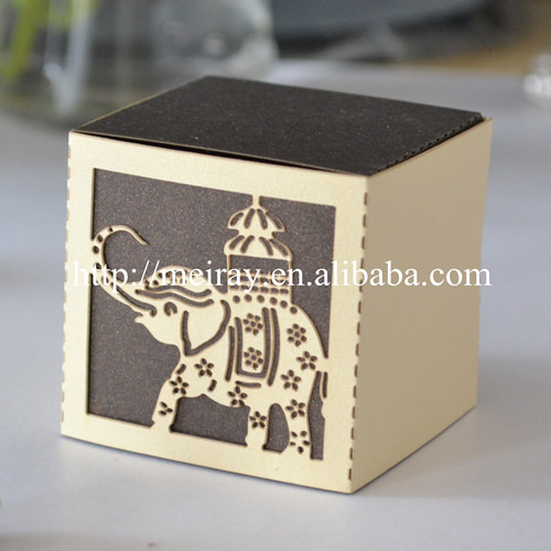 Thai Wedding Gifts: 50pcs High Quality Wedding Favors! Laser Cut Elephant