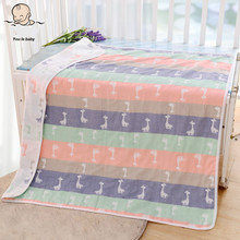New Brand Blanket- 100% Cotton Blanket Six Layers Gauze Baby/kid Blankets For Beds Bebe Swa