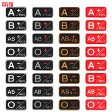 3D PVC A+ B+ AB+ O+ Positive POS A- B- AB- O- Negative NEG Blood Type Group Patch Tactical Morale Patches Military Rubber Badges monospecific anti b antibody and abo blood group