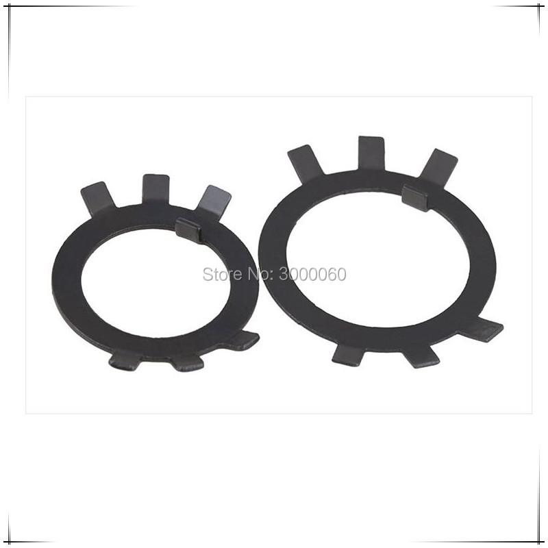 M30-M50 Black Carbon Steel Tab Washers For Round Nuts 50pcs/lot