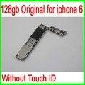 128 gb original desbloqueado para iphone 6 motherboard sem touch id, para iphone 6 mainboard com batatas fritas, boa qualidade & livre grátis
