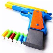 10 шт. пластиковые мягкие пули пистолет винтовка пистолет ручной Короткий пистолет светящиеся пули снайперская винтовка полуавтоматические пистолеты наружные игрушки