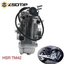 ZSDTRP HSR42 TM42 TM42-8 42mm Bomba de Acelerador MIKUNI Carburador Carb Pumper Para 4T 600cc-900cc Harley Motocicleta