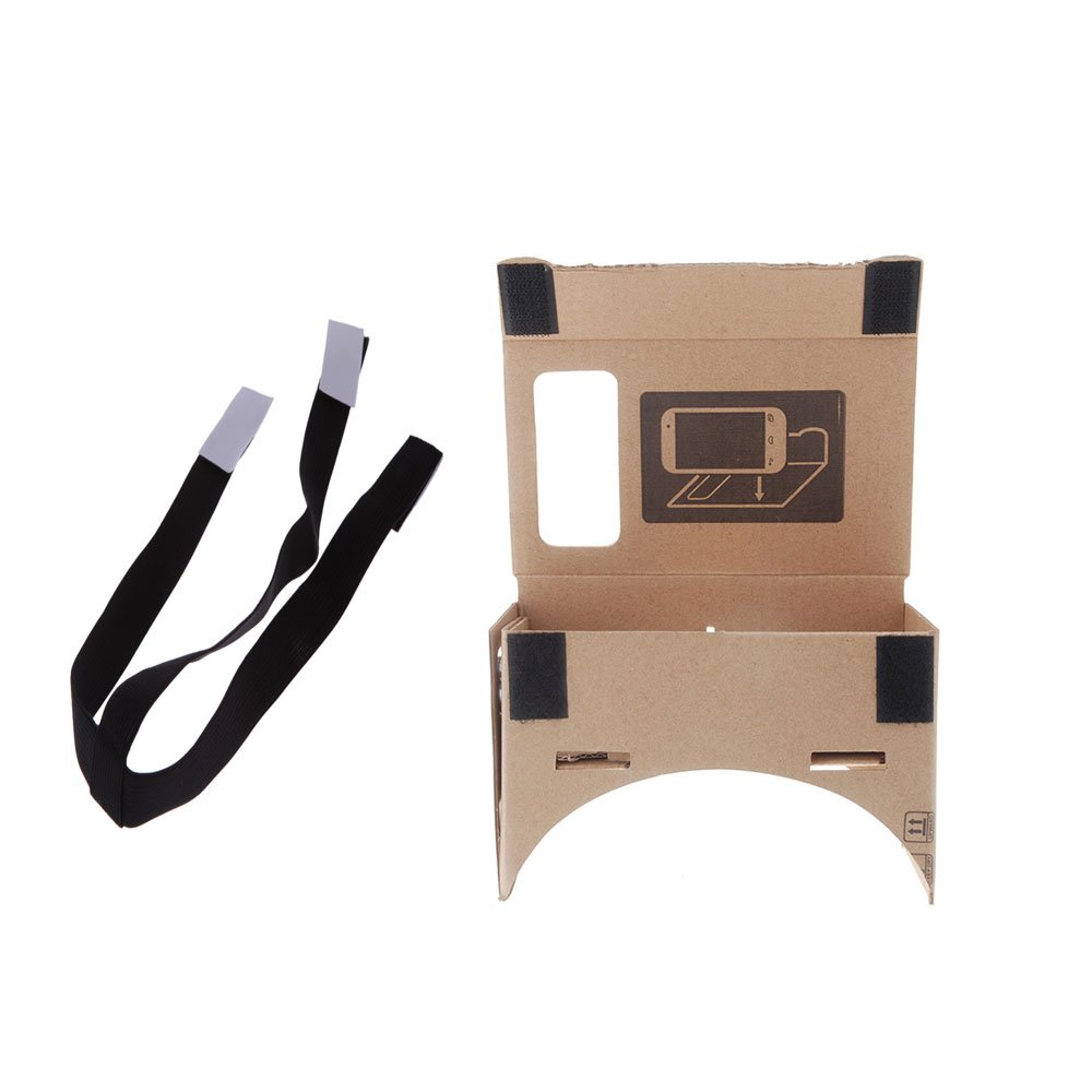 Brand New VR Virtual Reality Google 3D Glasses +a belt for adjustable elastic removable black head (S/M/L)Mode A4/5/6