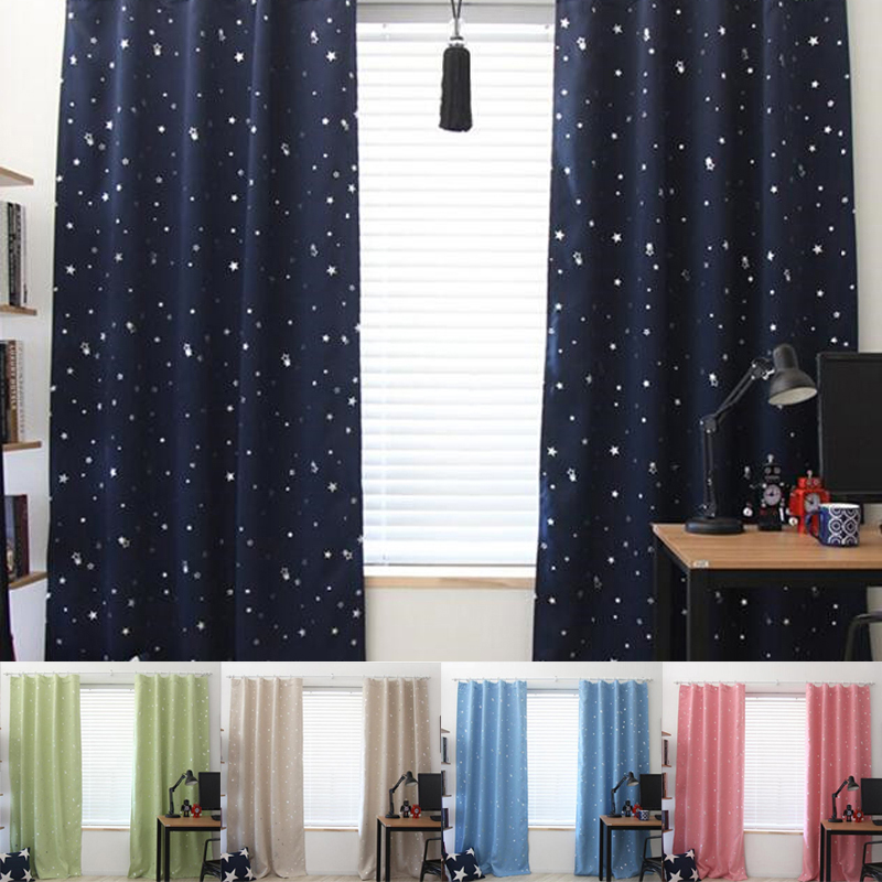 Bedroom Curtains Solid Color Japan Window Shades Imitation: 1 Pcs 130*190CM Home Textile Blackout Thermal Solid Window
