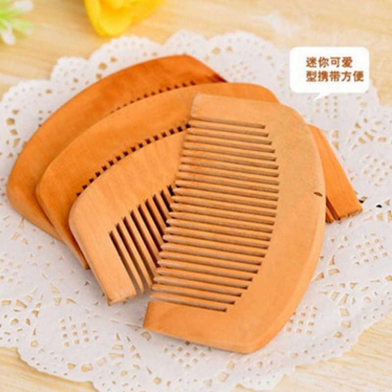 Protecção Da Saúde Do Cabelo Natural Peach Wodden Comb Cabelo Anti-static scova do Cuidado da Escova de cabelo