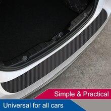 Sticker Strip Scratch-Protection Rear-Guard-Plate-Sticker Trunk Carbon-Fiber-Film Rear-Bumper-Trim