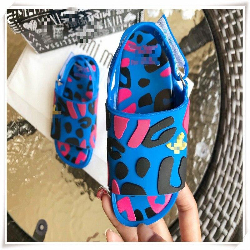 Sandals Shoes Girls Kids DHL Free-Melissa Mouse Anti-Skid Leopad EMS Summer