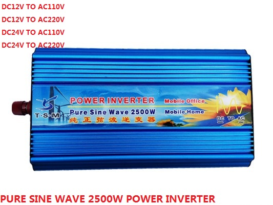 цена на Pure Sine wave Solar Inverter 2.5KW 2500W 12V/24V DC input to 120V/220V AC output Digital Display 50Hz/60Hz Off Grid Inverter