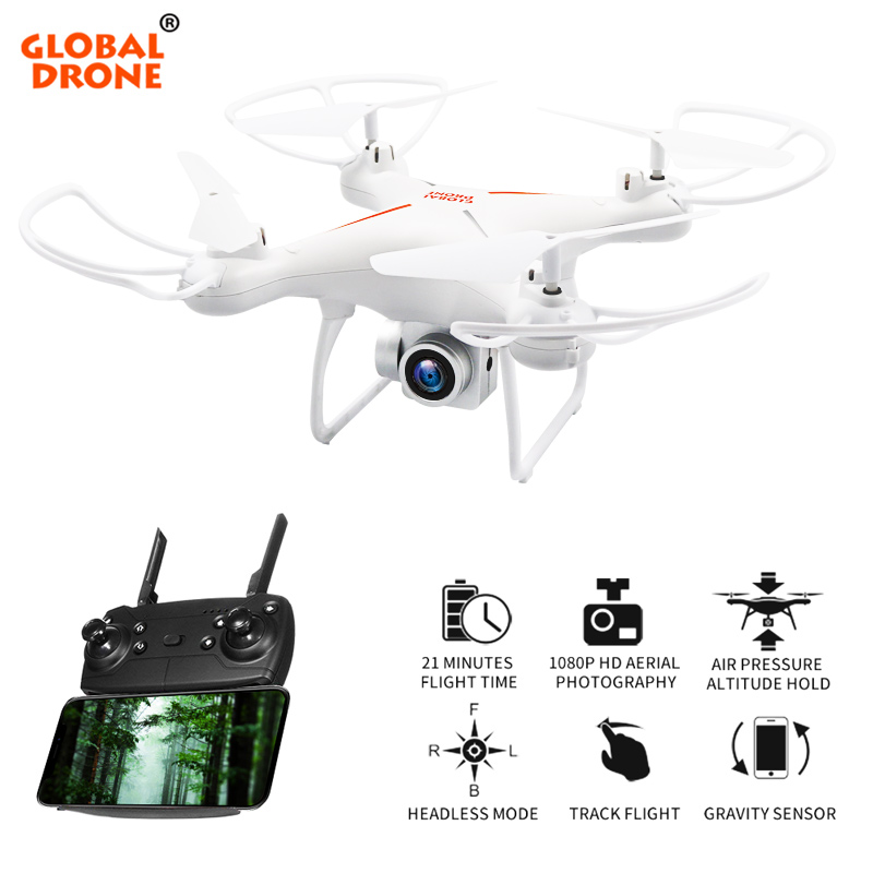 купить Global Drone GW26 Professional Drones with Camera 1080P HD Fixed High Drone for Beginner FPV Wifi Quadrocopter RC Helicopter по цене 2408.75 рублей