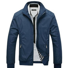 2017 New Arrival Spring Men's Solid Fashion Jacket Male Casual Slim Fit Mandarin Collar Jacket 3 Colors M-5XL