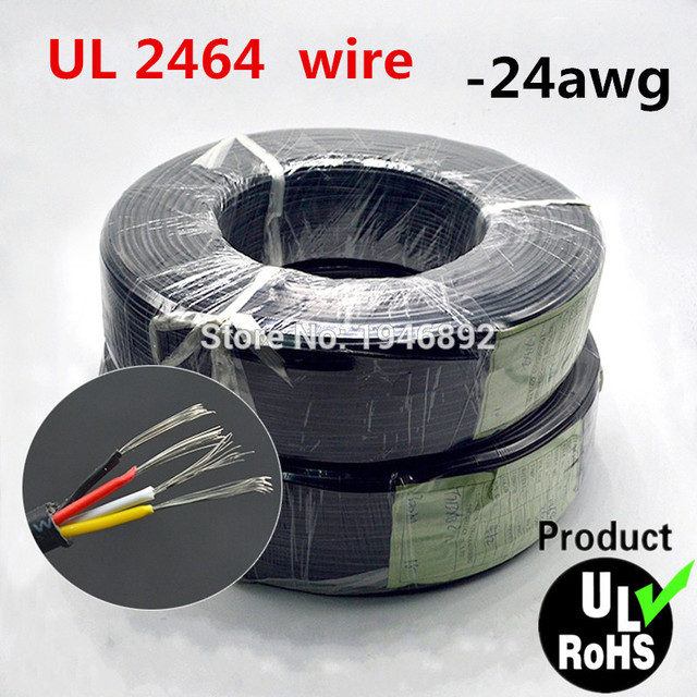 1m Ul 2464 2c 3c 4c 24 Awg Multi Core Pvc Jacket Cable