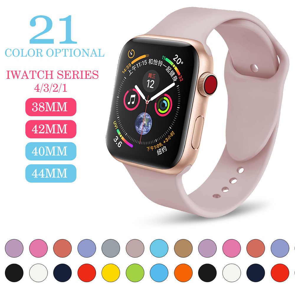 f3f7afb6367 Sports silicone Band For Apple watch Series 4 3 2 1Replace Bracelet Strap