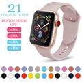 Спортивный силиконовый браслет для Apple Watch Series 3/2, сменный ремешок для браслета, браслет для часов, ремешок для Apple Watch, 42 мм 38 мм, MU SEN - фото