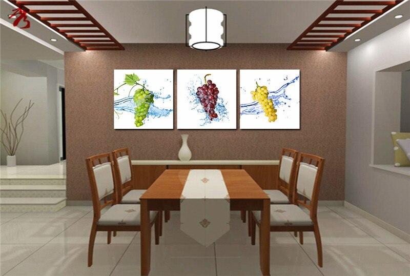 Verde Giallo Viola Uva dipinti per la cucina frutta cuadros decor ...
