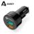 Aukey para qualcomm carga rápida 2.0 30 w 2-port usb car charger com Tecnologia AIPower Carro-Carregador Para O Telefone/Tablet Livre Typc C Cabo
