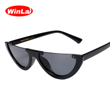 Winla Fashion Design Women Sunglasses Sexy Semi-Rimless Sun Glasses Unique Frame Shades Classic Ladies Eyewear UV400 WL1211