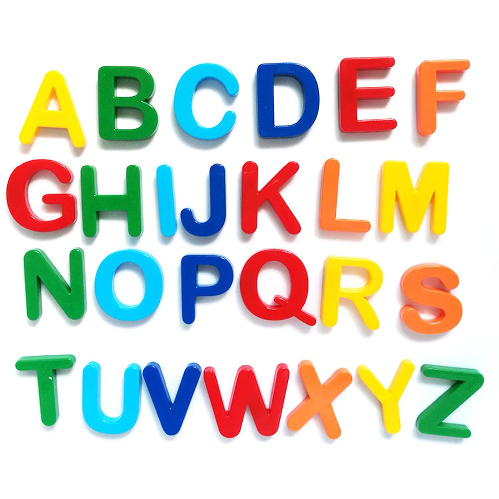 Children Early Education Educational Toys White Board Magnetic English Letters Digital Magnetic Stickers EVA Fridge Stickers