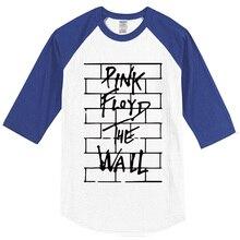 New summer 2017 men's T-shirts Pink Floyd The Wall T-shirts cotton crossfit casual raglan t shirt brand clothing top tshirt kpop