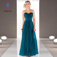 Cheap Long Turquoise Prom Dresses Tulle Evening Gowns Floor Length Women Special Night Dresses Vestido De Festa