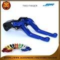 For BMW S1000RR 2015-2016  New Style Blue Black 2 finger red motobike Motorcycle Adjustable Short Brake Clutch Levers
