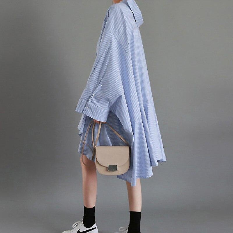 SuperAen 2019 Spring New Cotton Women Shirt Pluz Size Striped Cotton Casual Ladies Blouses Shirt Long Sleeve Women Clothing
