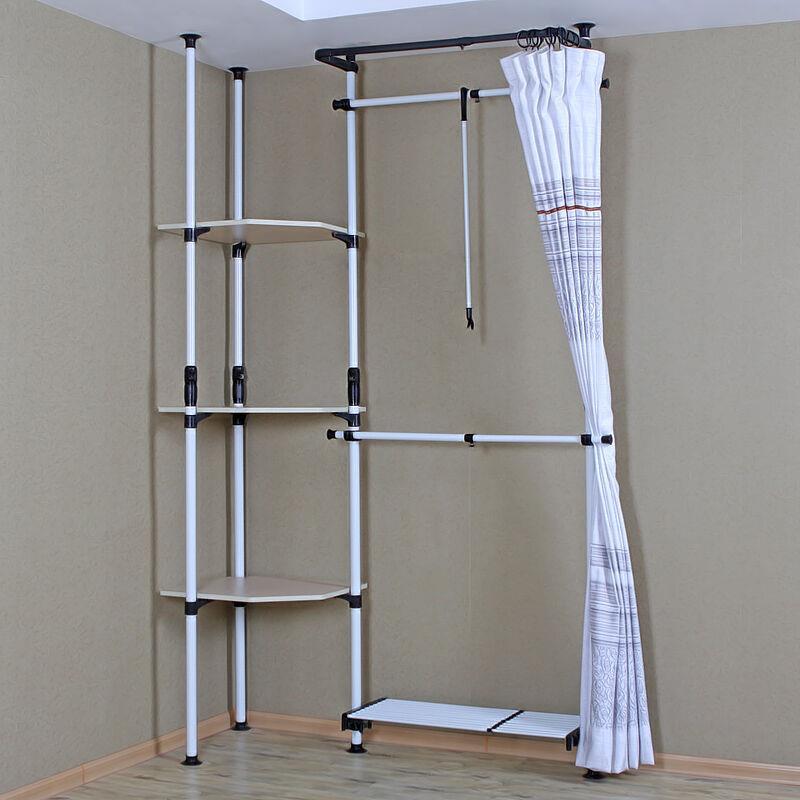Furniture Metal Simple Wardrobe Closet Cloakroom Overall Semi Closed