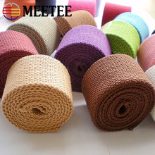 10Yards Meetee 38mm Canvas Webbing Ribbon 2mm Thick Polyester Cotton Strap Belt DIY Sewing Bag Garment Accessories