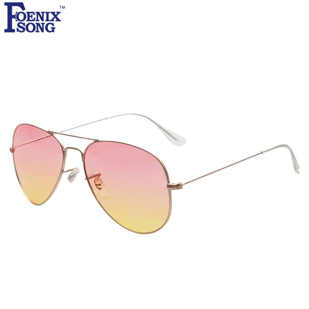 FOENIXSONG Brand New Designer Sunglasses for Women Pilot Style Classic Fashion Eyewear Gradient Mirrored Lens Eyeglasses