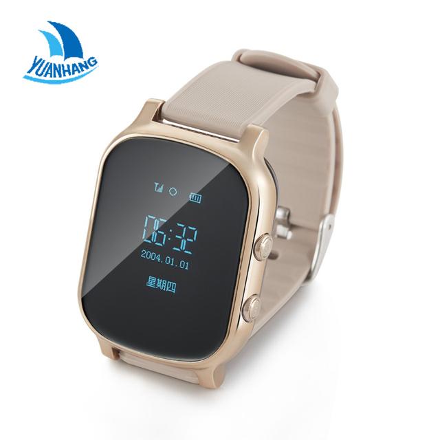 Nueva llegada, t58 gps agps tracker anti perdido reloj para niños niños estudiante smart watch pulsera con sos gsm para android y ios