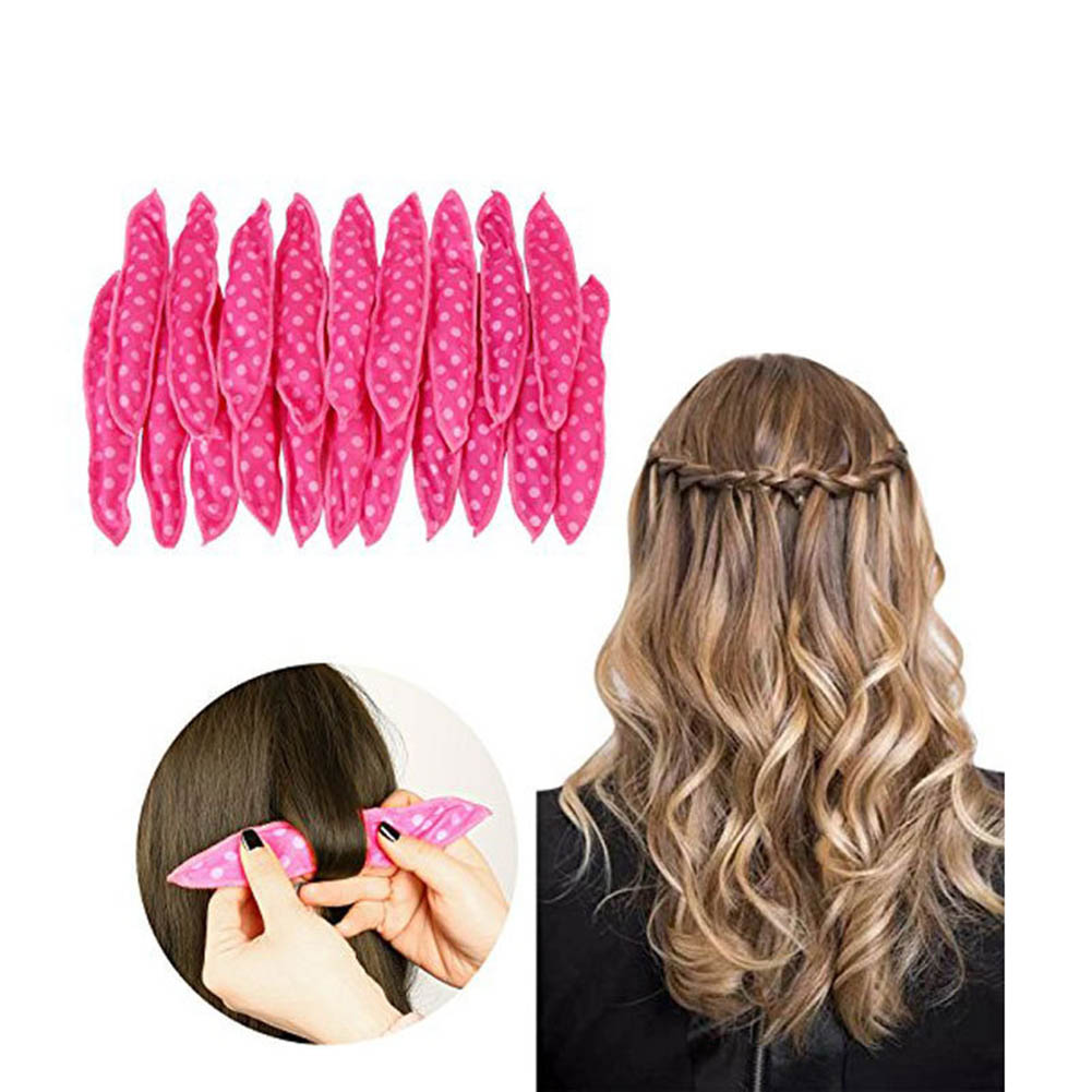 Hot Sale 20 Pcs Cloth Hair Curlers Dots No Heat Sleeping Sponge Curls Roller for Long Short Thick Thin Hairs