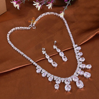 S420147 new elegant crystal color zircon set zinc alloy rose gold color with high quality zircon Austria crystal fashion jewelry