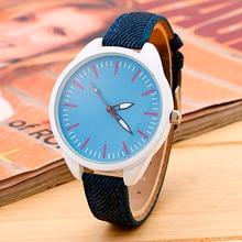 Reloj 2017 New Design Ladies Denim Fabric Strap Bracelet Wrist Watches Analog Quartz Watch New Dropshipping 17Jan20