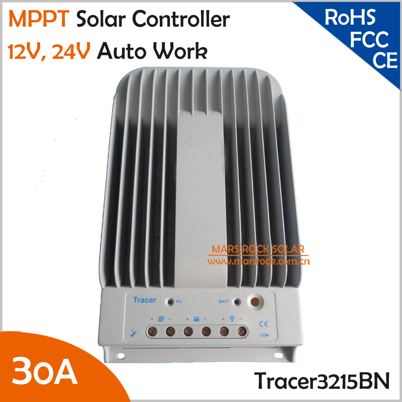 Tracer3215BN 30A 12V 24V Auto Work MPPT Solar Charge Controller with Die-cast Aluminum DesignTracer3215BN 30A 12V 24V Auto Work MPPT Solar Charge Controller with Die-cast Aluminum Design