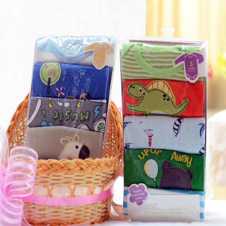 5 шт., брендовая одежда для маленьких девочек боди с длинными рукавами для мальчиков Одежда для новорожденных спортивный костюм комбинезон для малышей 0-1 лет